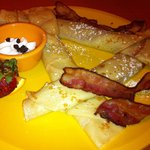 Traditional Crepes with bacon