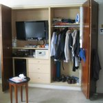 Ample wardrobe room