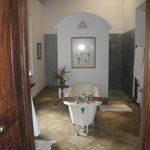 The bathroom was pleasant with freestanding bath and strong shower.