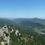 View from  Chateau de Peyrepertuse