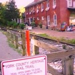 historic rail trail and tracks