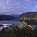 View from Brakanes Hotel overlooking Hardangerfjord