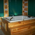 inside jacuzzi there is also a hot tub on rear deck