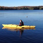 Afternoon paddle. We had the lake to ourself in October