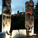 Totem poles in White Rock
