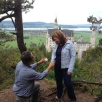 My proposal overlooking castle after a short hike beyond the scenic bridge