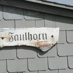 Weathered sign on Deck   - Faulhorn