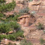 Smiling rock formation @Oak Creek