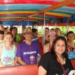 Part of our group on a Chiva bus tour...