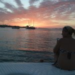 sunset from boat trip  best ibiza charters