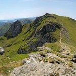 Panoramic view of The Cobbler and Loch Long
