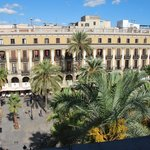 View from room to Placa Reial