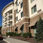 Exterior view of the front of the Courtyard by Marriott, Boone, NC