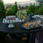 Canapes on the wedding day