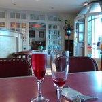 Kir Royale in the bar
