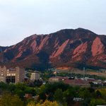 sunrise view on the flat irons - view from our room