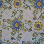 Hand painted tiles everywhere!