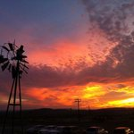 Fabulous West Texas sunset from their party barn.