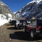 Jeeps ready to head up the trail