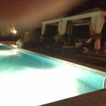Pool at night - great place to have some wine with your soulmate