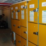 the basement where you could storage your bags, but not all lockers had doors that could be lock