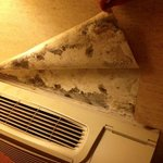 Mold over air conditioner
