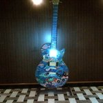 Big artwork guitar