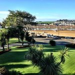 Hotwl gardens with river Torridge beyond