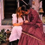 """Helen Keller and Annie Sullivan in """"The Miracle Worker"""""""