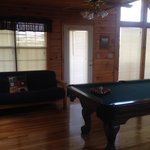 Pool Table/Futon Bed-Couch