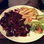 duck in cherry sauce.