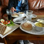 Our soups and sandwich