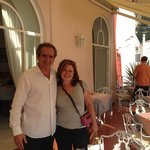 With Lorenzo, the proprietor of Casa Albertina, the morning we left Positano!