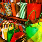 Colourful baskets at Royal Swazi Spa Shop
