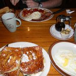 Classic Beckies Breakfast and Cinnamon Roll French Toast