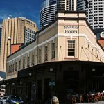 Australian Heritage Hotel from the street