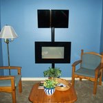 Wall mounted TV and fireplace/heater