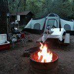 Our amazing campsite in Sedona with Cree Canyon Outfitters