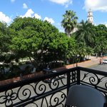 View of the main square in Mérida from private balcony