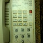The filthy phone in our room - still had a Doral Inn sticker on it.