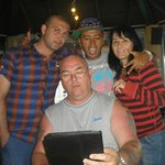 me on my ipad with vinny , adam and not sure on her name lol