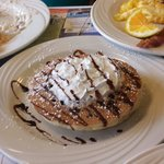 Just yummy chocolate pancakes you will leave happy.