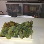 Another little fine touch! Fresh grapes on kitchen table