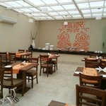 Dining Room with open air feel but enclosed with ac