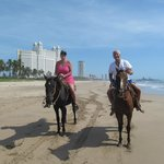 Horseback riding is available from vendors on the beach