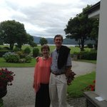 Terry & I at Loch Lein Country House Hotel - highly recommend this place to stay when in Killarn