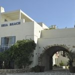 Entrance to Iria Beach Art Hotel