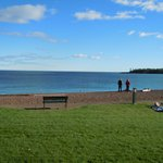 View of  Lake Superior and Artists Point from our room patio.
