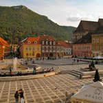 beautiful main square of Brasov