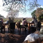 The beautiful Dining Deck overlooking Sabi River